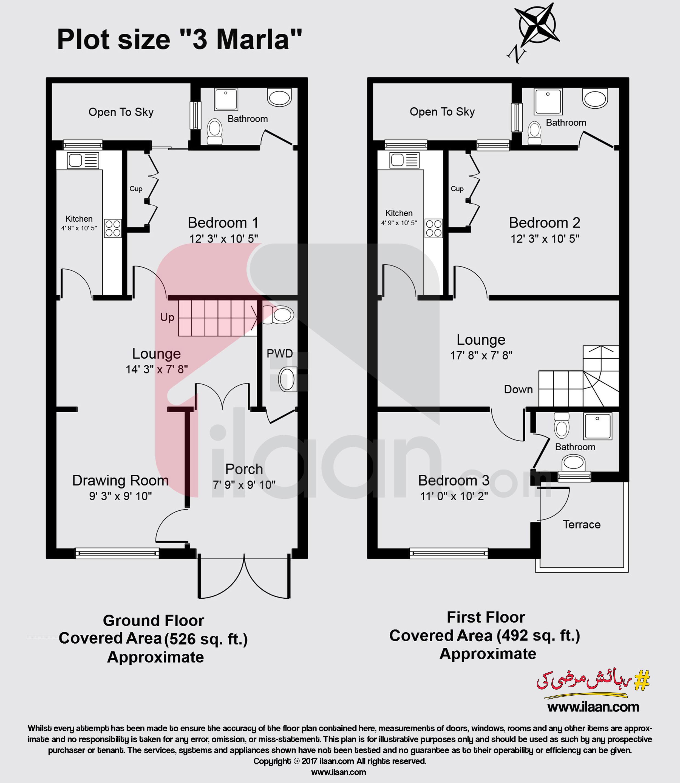 Latest House Designs In Pakistan: 3 Marla House Available For Sale In Al-Ahmad Garden