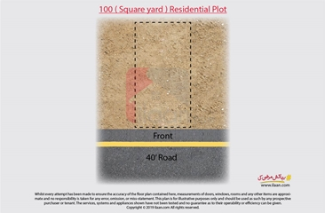 100 ( square yard ) plot for sale in Bin Qasim Town, Makran Coastal Highway, Gwadar