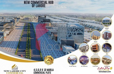10 marla commercial plot for sale on Backside of Main Boulevard, New Lahore City, Lahore