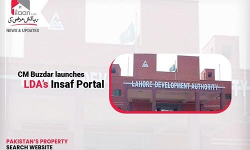 CM Buzdar launches LDA's Insaf Portal