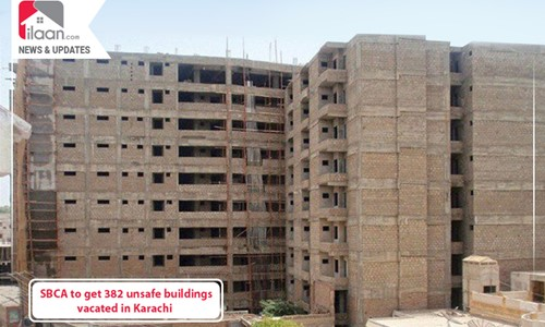 SBCA to get 382 unsafe buildings vacated in Karachi