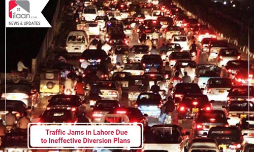Traffic Jams in Lahore Due to Ineffective Diversion Plans