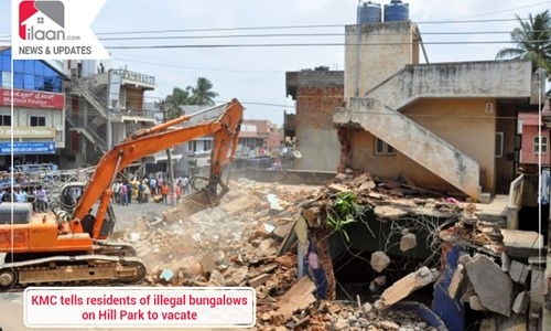 KMC tells residents of illegal bungalows on Hill Park to vacate