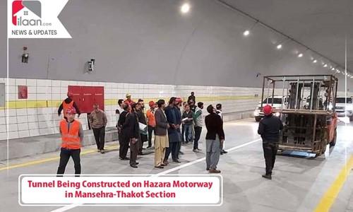 Tunnel Being Constructed on Hazara Motorway in Mansehra-Thakot Section