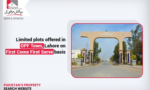Limited plots offered in OPF Town, Lahore on First Come First Serve basis