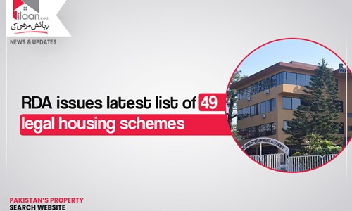 RDA issues latest list of 49 legal housing schemes