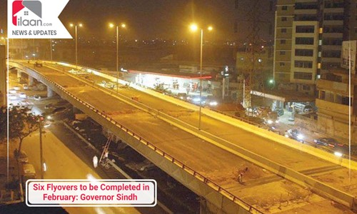 Six Flyovers to be Completed in February: Governor Sindh