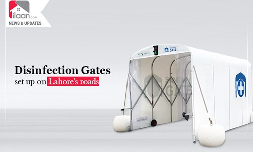 Disinfection gates set up on Lahore's roads