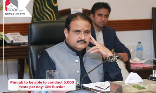 Punjab to be able to conduct 5,000 tests per day: CM Buzdar