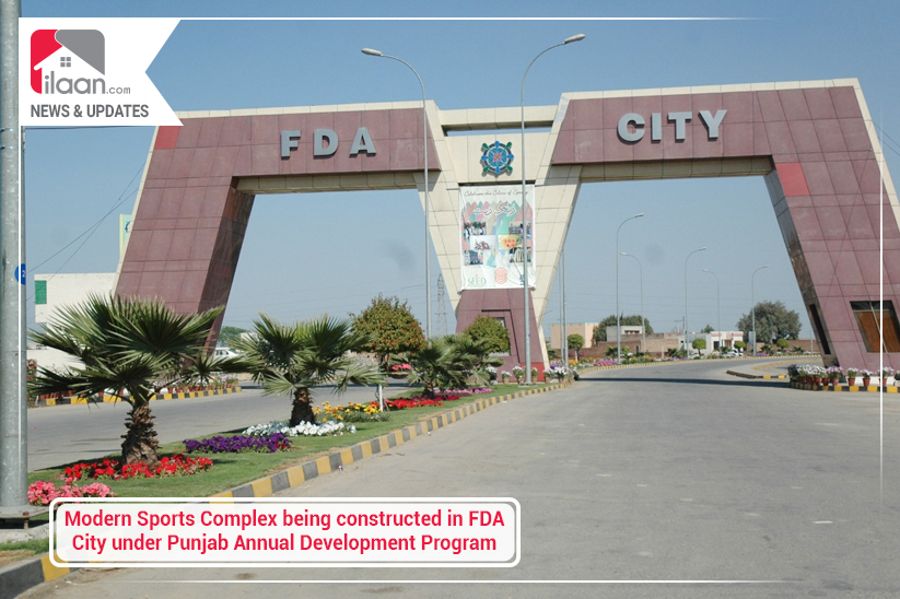 Sports Complex being constructed in FDA City under Punjab Annual Development Program
