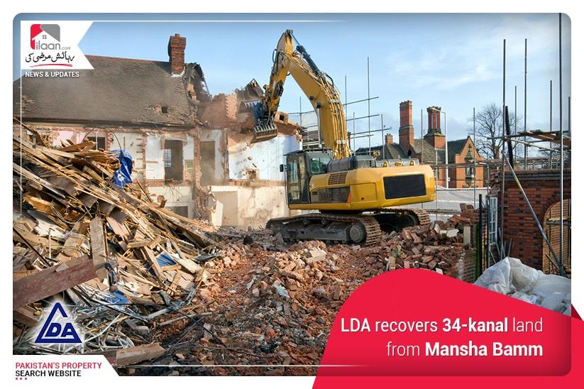 LDA recovers 34-kanal land from ManshaBamm