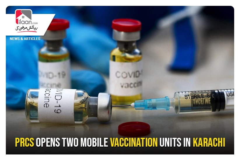 PRCS opens two mobile vaccination units in Karachi