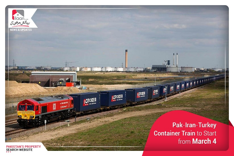 Pak-Iran-Turkey Container Train to Start from March 4