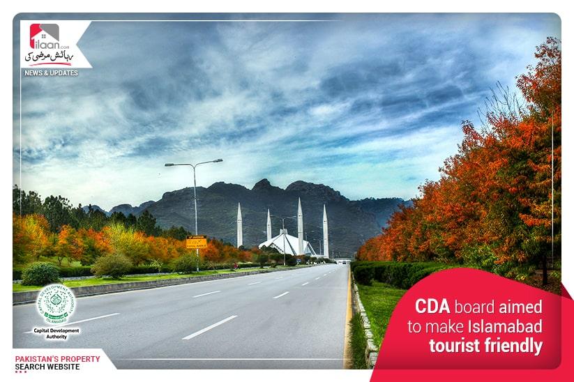 CDA board aimed to make Islamabad tourist friendly
