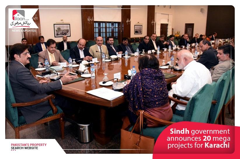 Sindh government announces 20 mega projects for Karachi