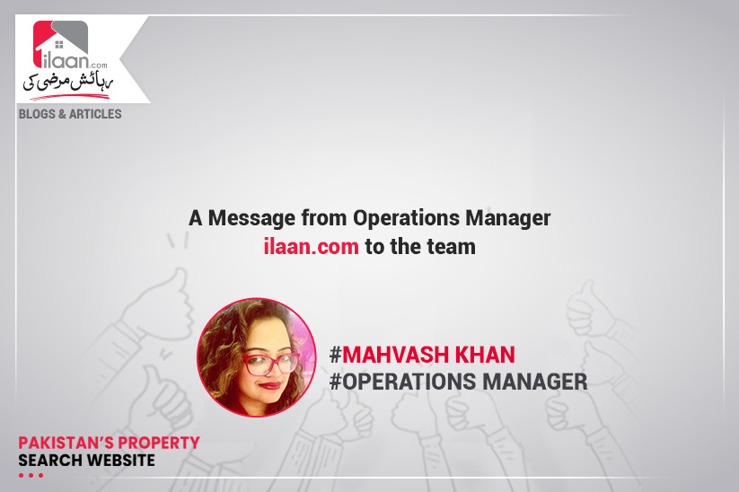 A Message from Operations Manager to team ilaan.com