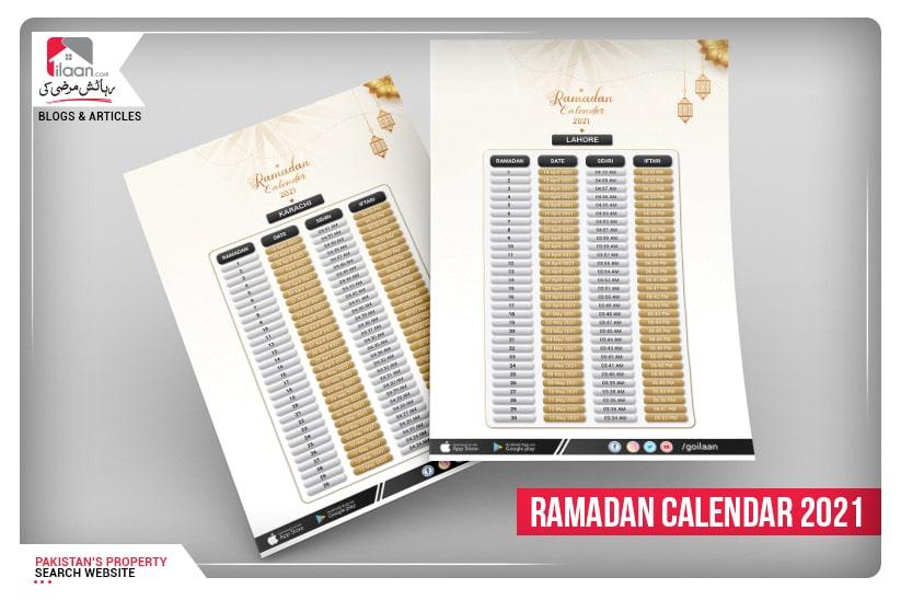 Ramadan Calendar 2021 - Karachi, Lahore, Islamabad & Bahawalpur Sehr/Iftar Timings