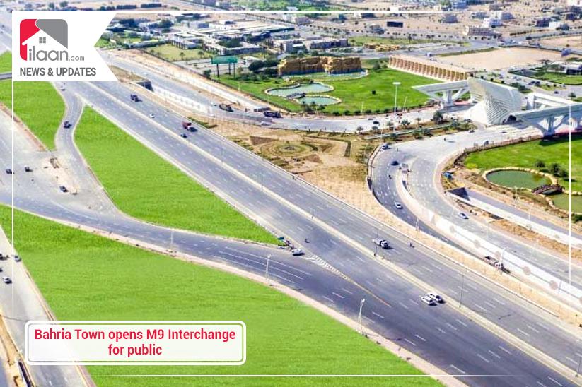 Bahria Town opens M9 Interchange for public