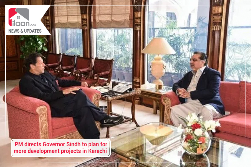 PM directs Governor Sindh to plan for more development projects in Karachi