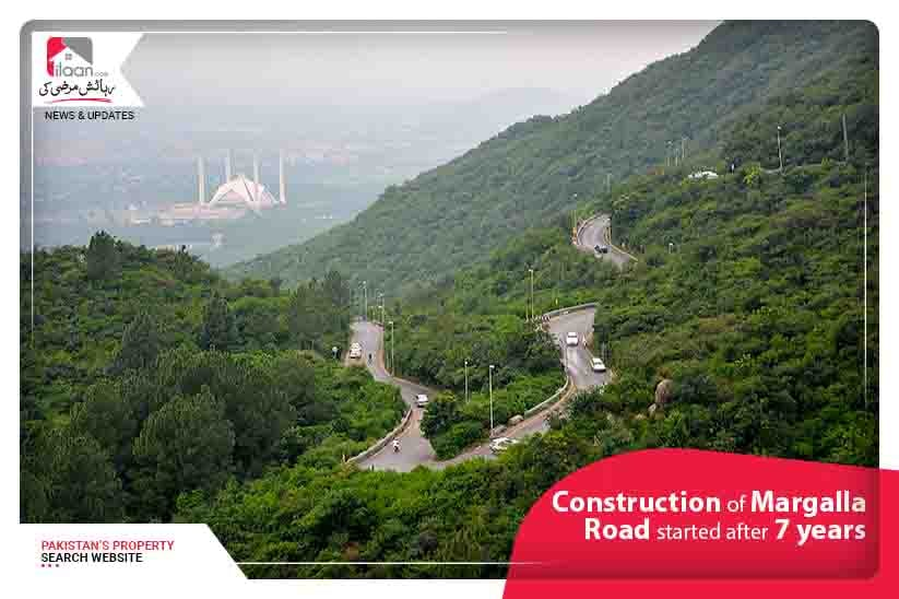 Work Upon Margalla Road Construction Started After Seven Years