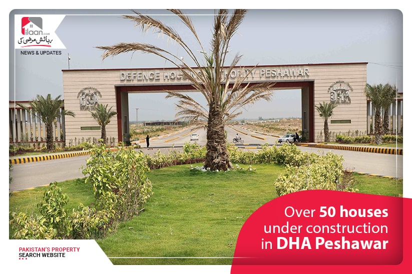 Over 50 houses under construction in DHA Peshawar
