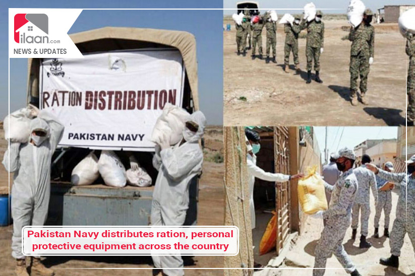 Pakistan Navy distributes ration, personal protective equipment across Pakistan