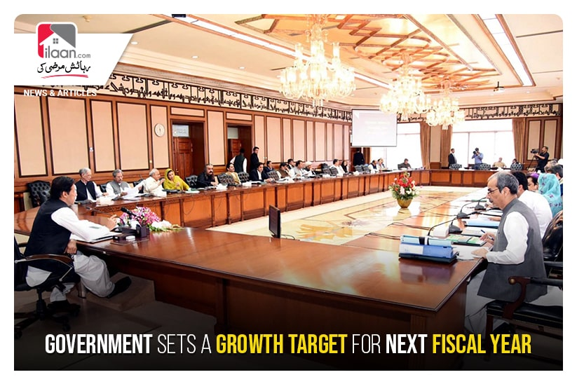 Government sets a growth target for next fiscal year