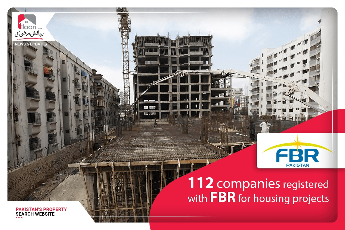 112 companies registered with FBR for housing projects