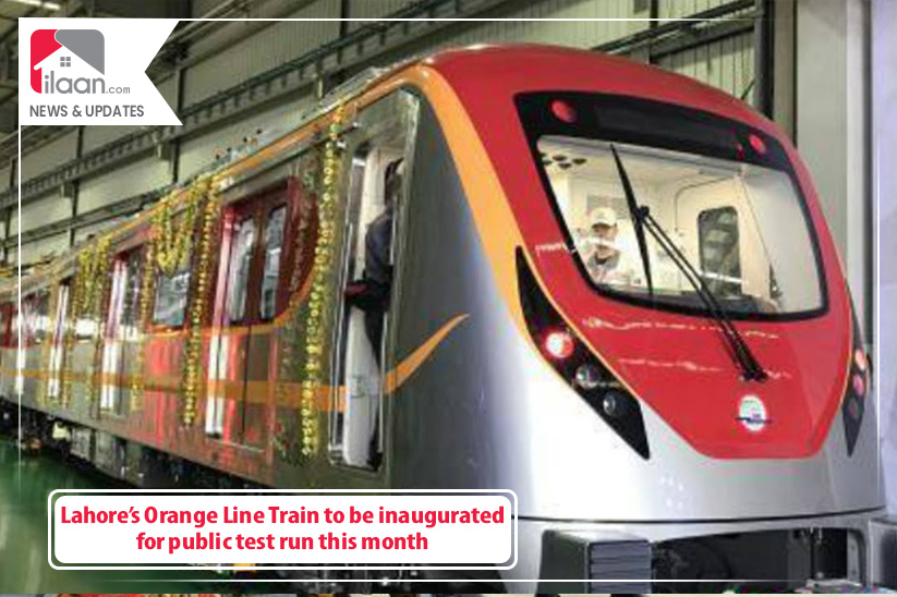 Lahore's Orange Line Train to be inaugurated for public test run this month