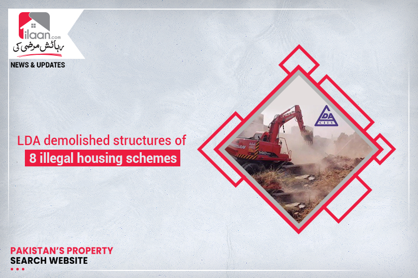 LDA demolished structures of 8 illegal housing schemes