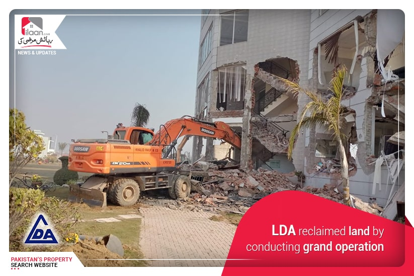 LDA reclaimed land by conducting grand operation