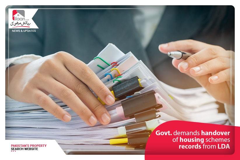 Govt. demandshandover of housing schemes records from LDA
