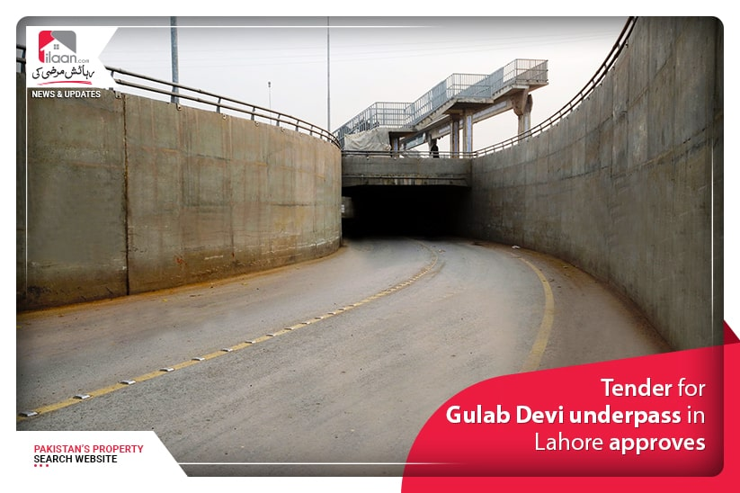 Tender for Gulab Devi underpass in Lahore approves