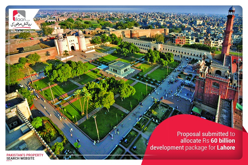 Proposal submitted to allocate Rs 60 billion development package for Lahore