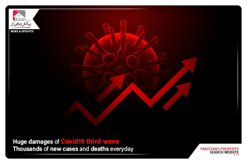 Huge damages of Covid19 third wave - Thousands of new cases and deaths everyday