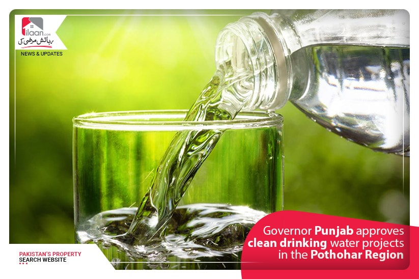 Governor Punjab approves clean drinking water projects in the Pothohar Region