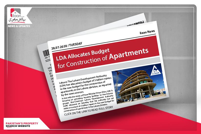 LDA allocates budget for construction of apartments