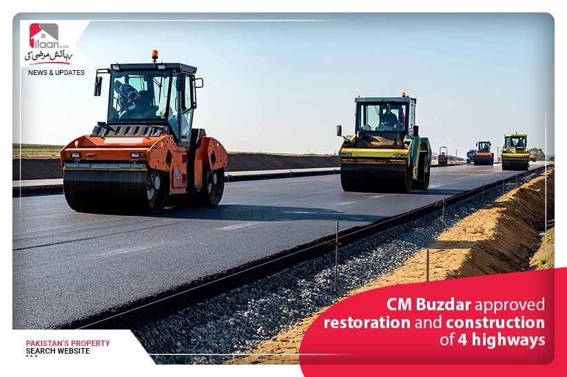 CM Buzdar approved restoration and construction of 4 highways