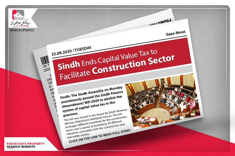 Sindh ends capital value tax to facilitate construction sector