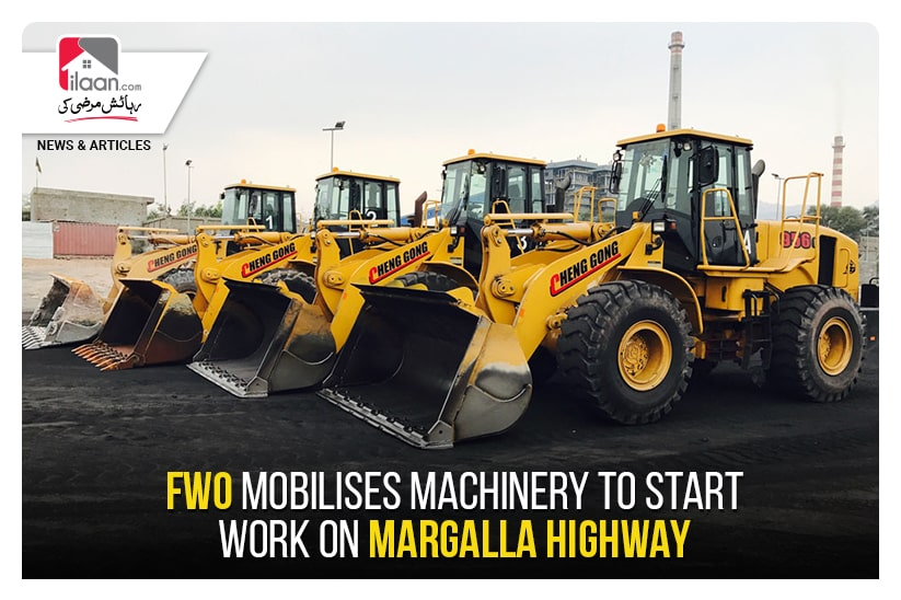FWO mobilises machinery to start work on Margalla Highway