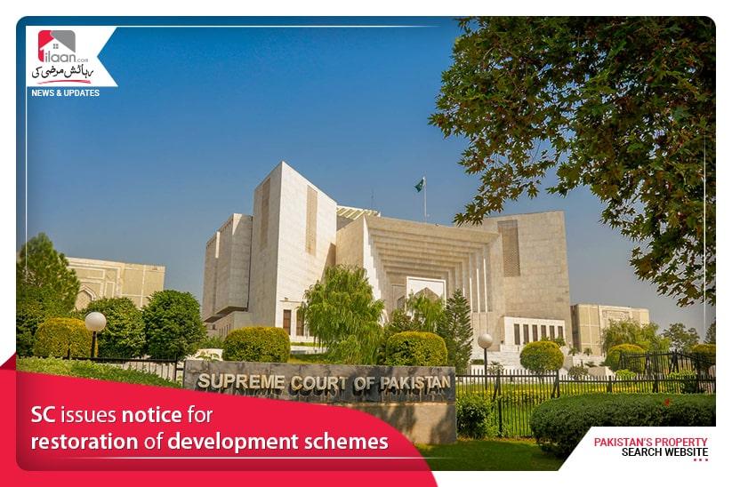 SC issues notice for restoration of development schemes