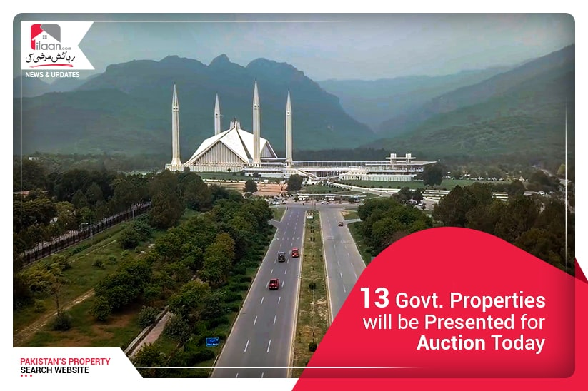 13 govt. properties will be presented for auction today