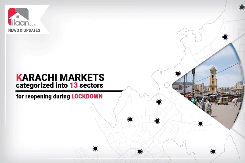 Karachi markets categorized into 13 sectors for reopening during lockdown