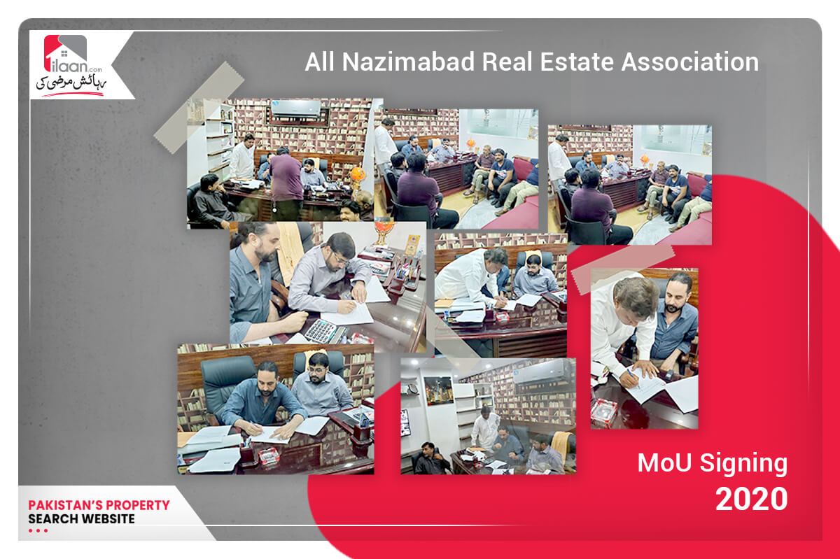 ilaan.com & All Nazimabad Real Estate Association MoU Signing