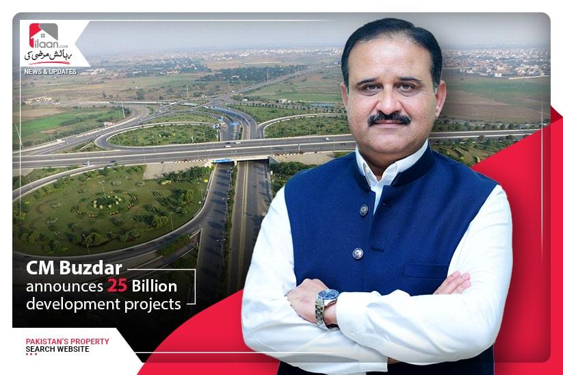 CM Buzdar announces 25 Billion development projects
