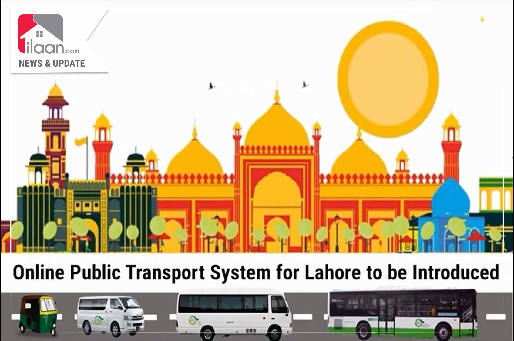 Online Public Transport System for Lahore to be Introduced