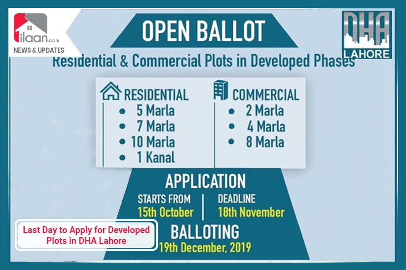 Last Day to Apply for Developed Plots in DHA Lahore