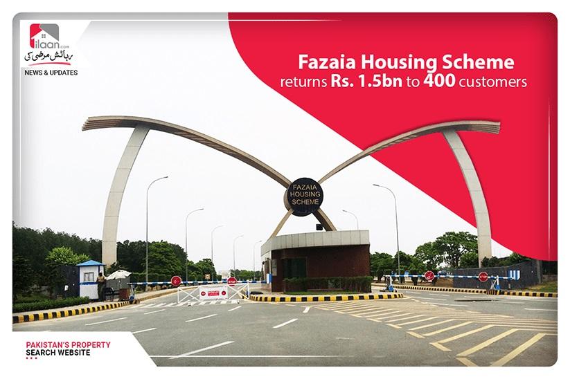 Fazaia Housing Scheme returns Rs. 1.5bn to 400 customers