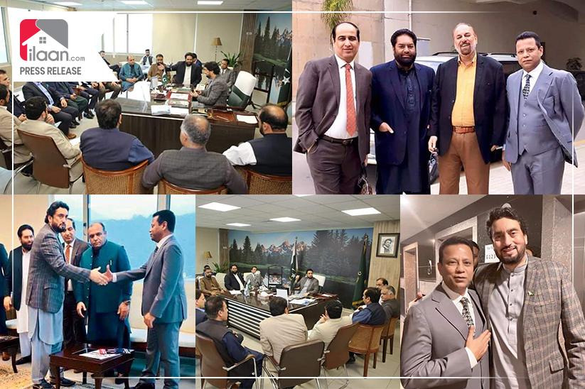 President DEFCLAREA Noor Abrejo & Chairman Federation of Realtors Association of Pakistan Musarrat Ejaz Met MNA Aftab Jahangir
