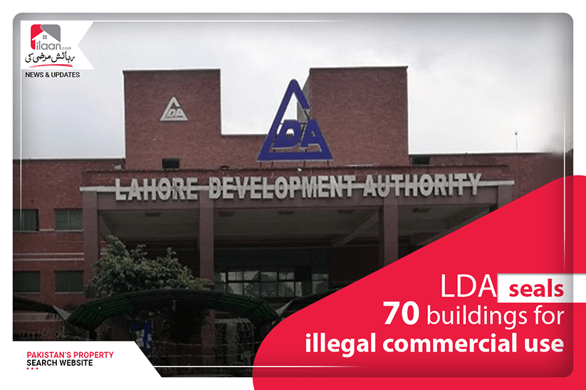 LDA seals 70 buildings for illegal commercial use